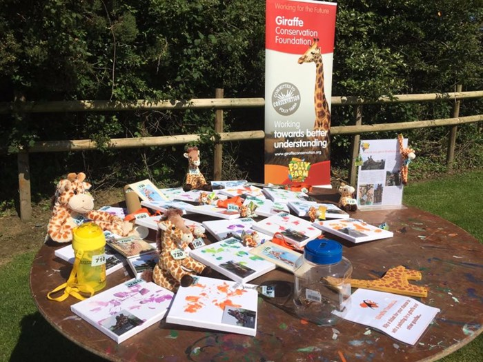 world giraffe day table display