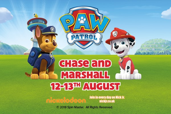 PAW Patrol's Chase and Marshall at Folly Farm