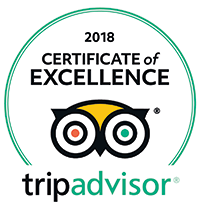 TripAdvisor Certificate of Excellence Award 2018