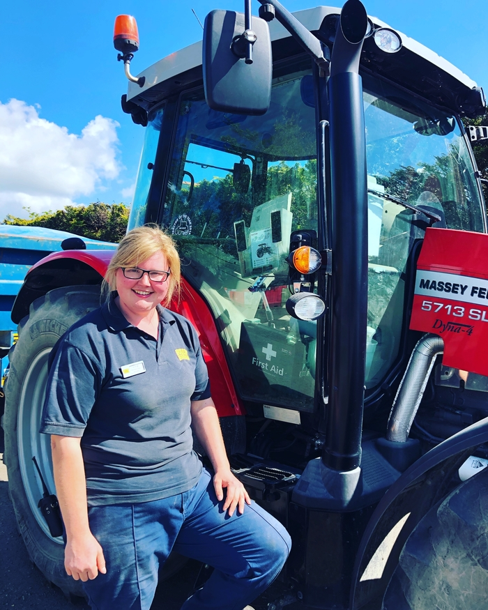 Staff member with tractor