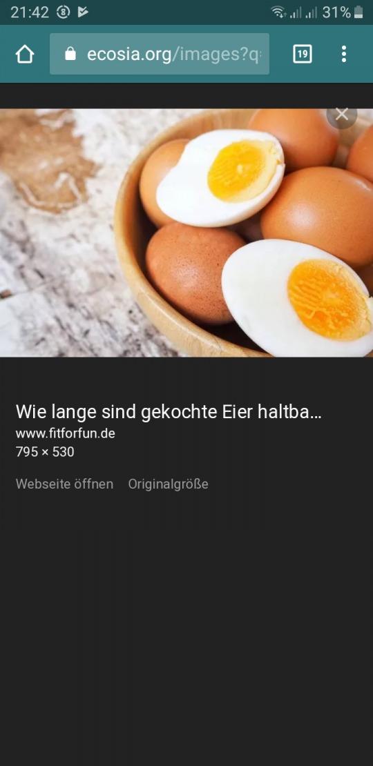 boiled egg Kalorien-Nährwerte
