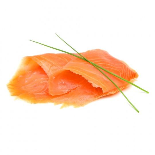 Räucherlachs (durchschnittlicher Lachs) Kalorien-Nährwerte