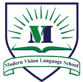 لوجو مدرسة الرؤية الحديثة للغات