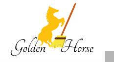 لوجو مجموعة مصانع الحصان الذهبي للبلاستيك