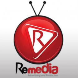 لوجو ريميديا للدعاية والاعلان والانتاج الفنى