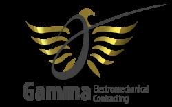 لوجو جاما للمقاولات الكهروميكانيكية