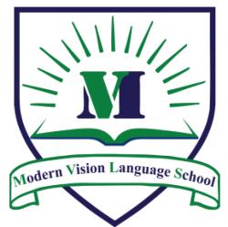 لوجو شركة مدرسة الرؤية الحديثة للغات