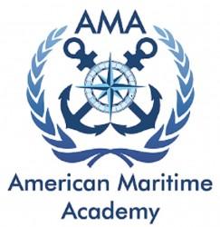 لوجو شركة الاكاديمية البحري الامريكيه لليخوت والدراسات البحريه