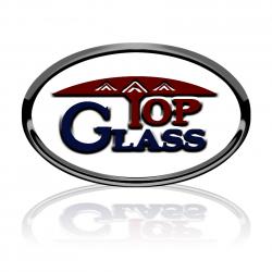 لوجو شركة توب جلاس الزجاج