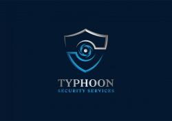 لوجو شركة تايفون إعصار لخدمات الأمن والحراسة