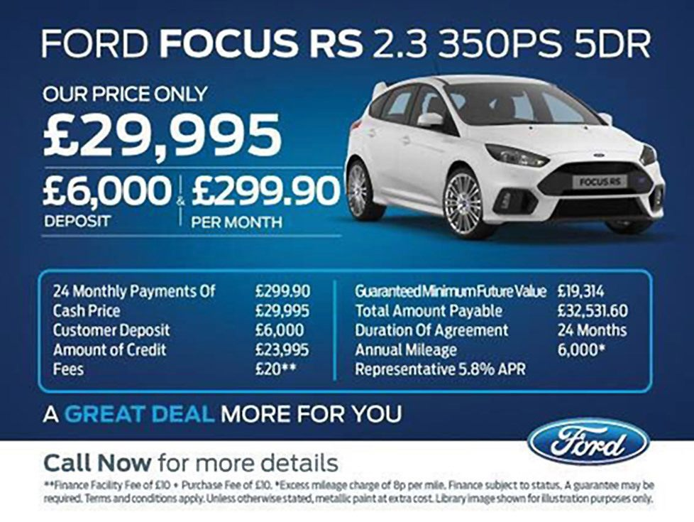 Ford Focus Rs Lease Deals Uk Lamoureph Blog
