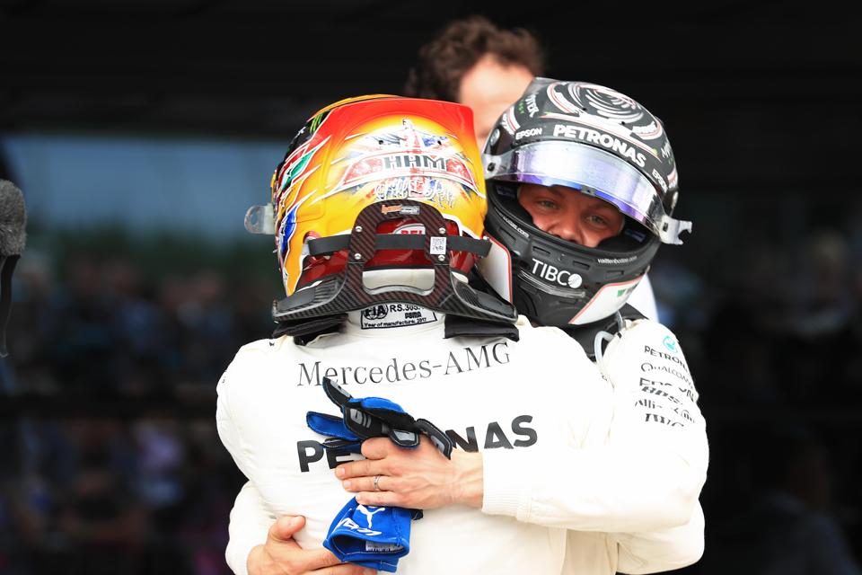 Mercedes Lewis Hamilton Valtteri Bottas British Grand Prix