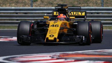 Robert Kubica Renault Hungarian Test Hungaroring