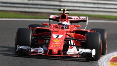 Kimi Raikkonen Ferrari Belgian Grand Prix