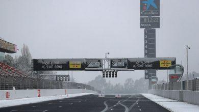 Circuit de Barcelona-Catalunya Testing Snow