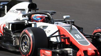 Romain Grosjean Haas Testing Barcelona