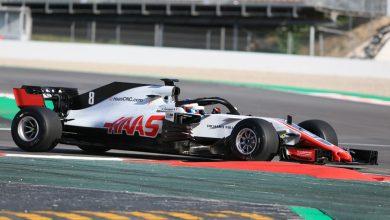 Romain Grosjean Haas Circuit de Barcelona-Catalunya Testing