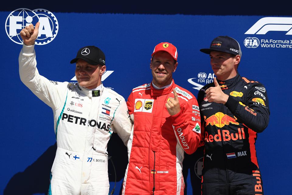 Canadian Grand Prix Qualifying Sebastian Vettel Valtteri Bottas Max Verstappen