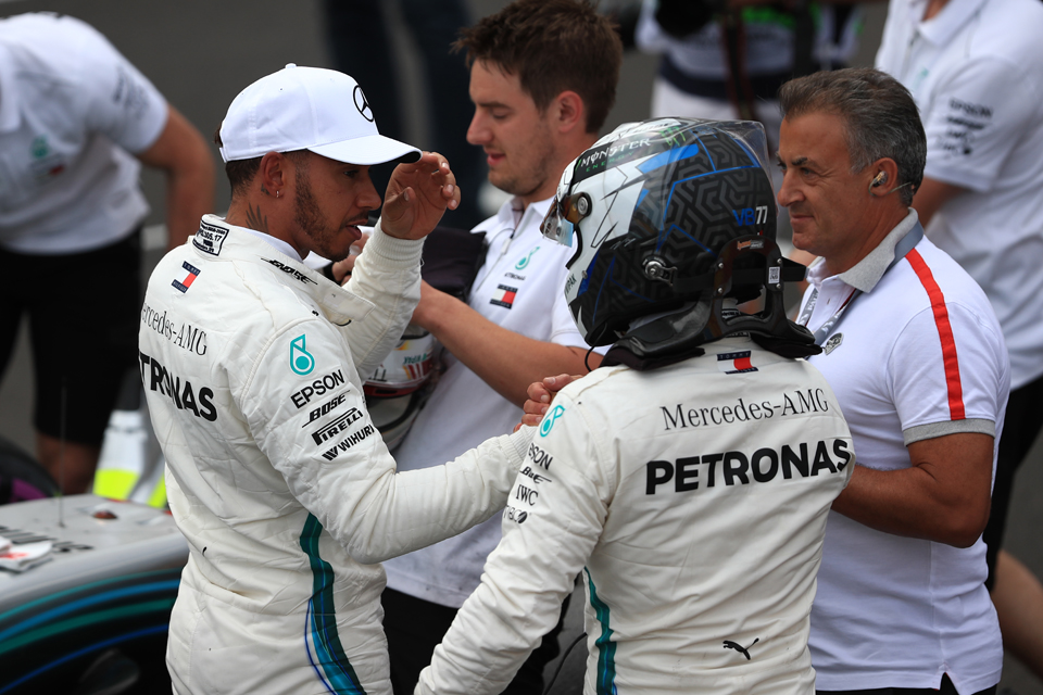 Hamilton Bottas Mercedes French Grand Prix