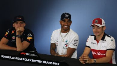 Hamilton Verstappen Leclerc Press Conference