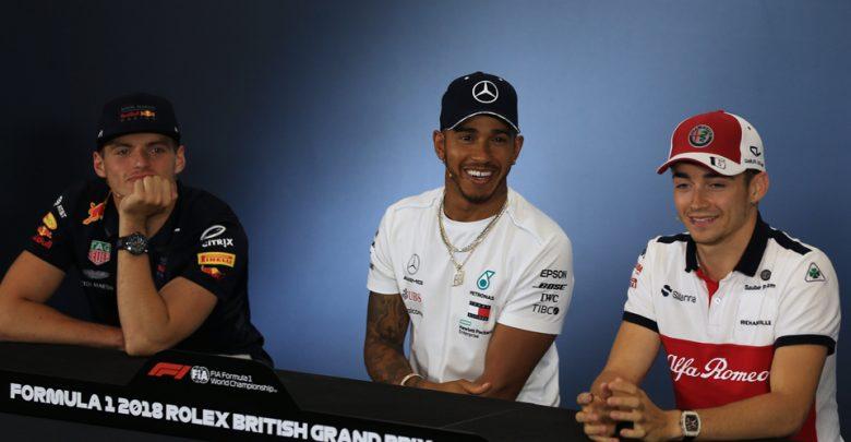 Hamilton Verstappen Leclerc Press Conference