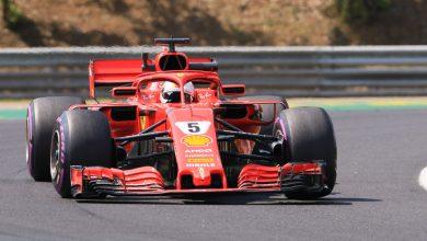 Vettel Ferrari Hungarian Grand Prix
