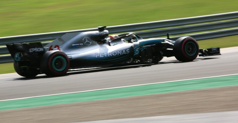 Russell mercedes testing