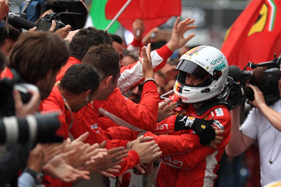 Belgian Grand Prix Vettel Ferrari