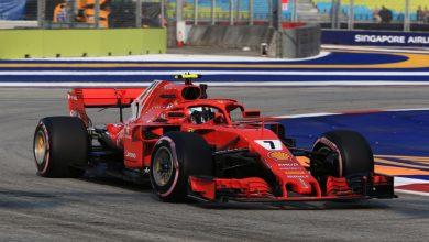 Kimi Raikkonen Ferrari Singapore Grand Prix