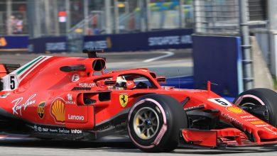 Sebastian Vettel Ferrari Singapore Grand Prix