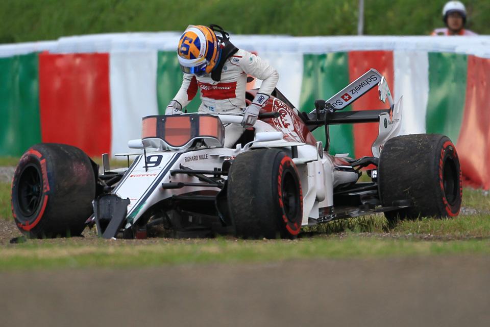 Marcus Ericsson Sauber Japanese Grand Prix Qualifying