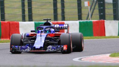 Starting grid Japan