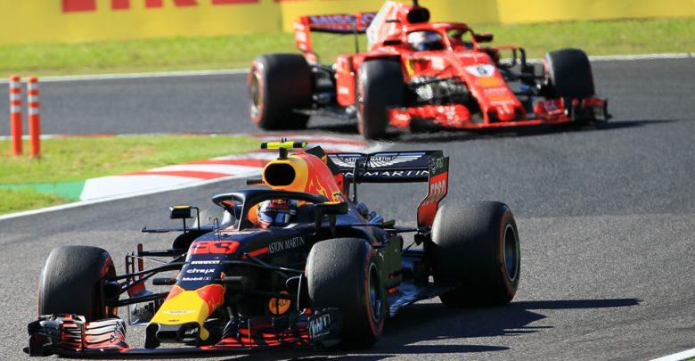 Japanese Grand Prix Ferrari Sebastian Vettel Red Bull Racing Max Verstappen