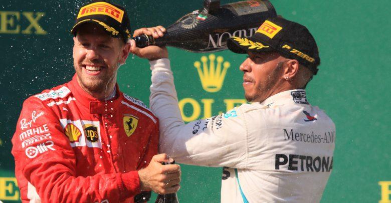 Mercedes Hamilton Vettel Ferrari