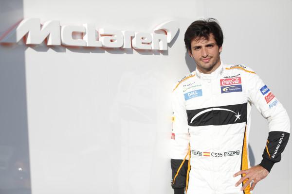 McLaren Sainz testing
