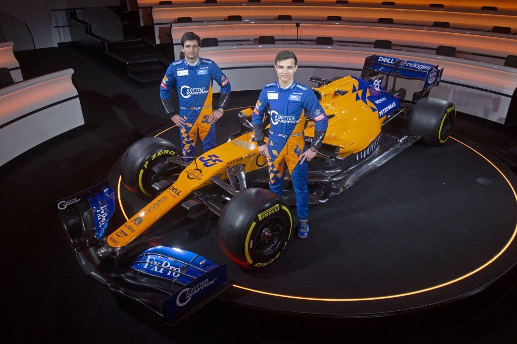 McLaren testing Sainz Norris
