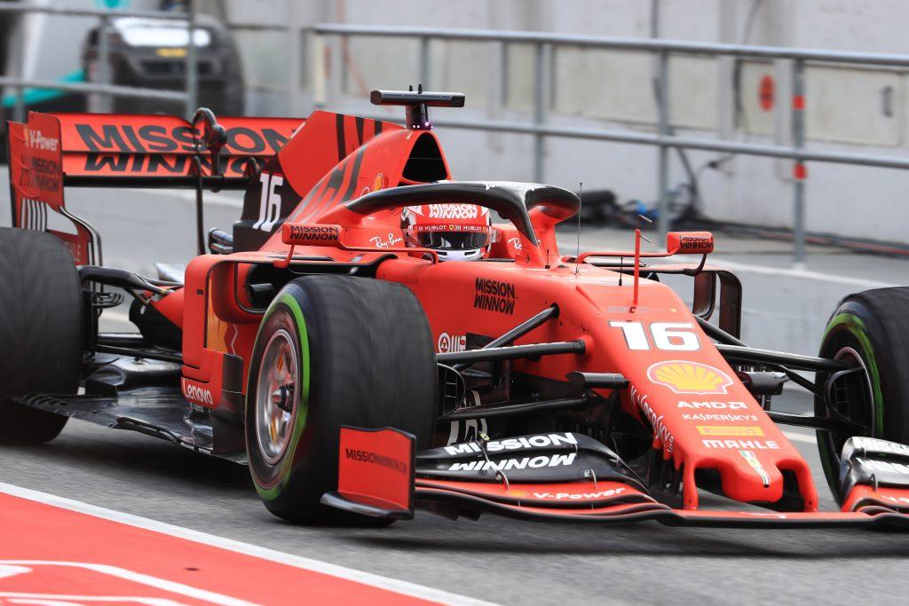 Ferrari Leclerc Barcelona Testing Day Two