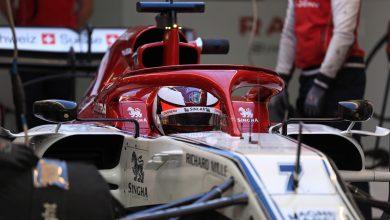 Raikkonen Alfa Romeo testing Barcelona day three