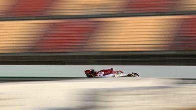 Alfa Raikkonen testing