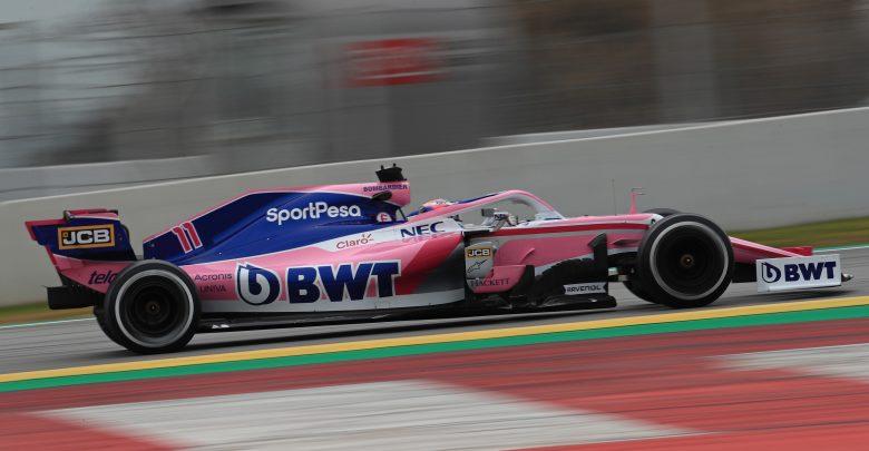 Racing Point Test Barcelona