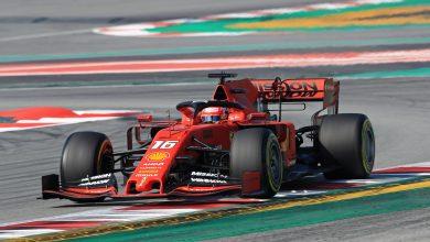 Ferrari Leclerc testing