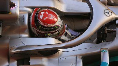 Hamilton Mercedes Barcelona Testing