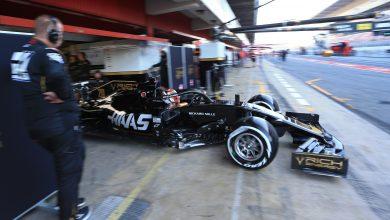 Haas Grosjean F1 Testing