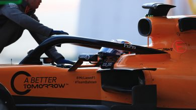 Sainz McLaren Testing Barcelona