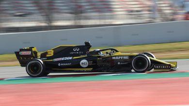 Ricciardo Renault testing