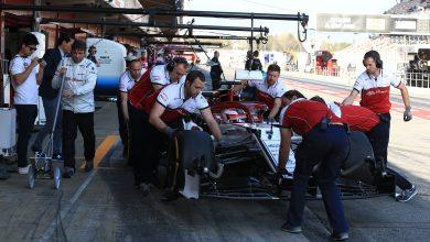 Alfa Romeo Kimi Raikkonen testing