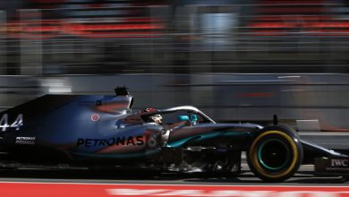 Hamilton Mercedes testing Formula 1