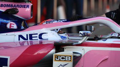 Perez Pre-season testing Barcelona test Racing Point