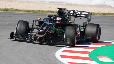 Haas Grosjean Barcelona Testing