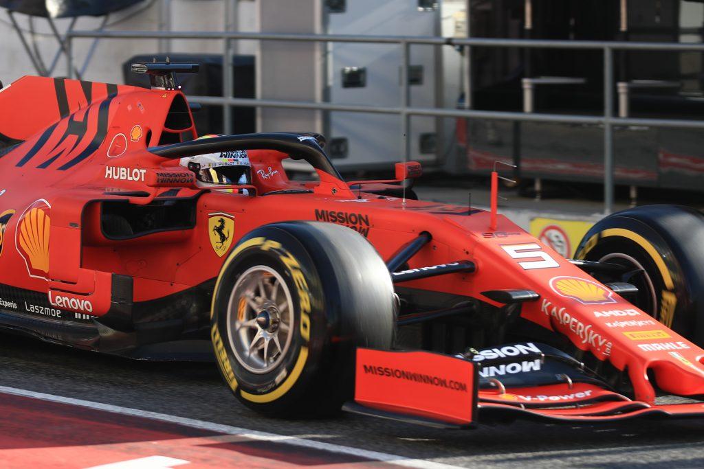 Vettel Ferrari Barcelona Testing